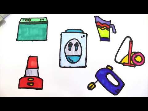 Learn Colors For Kids With Appliances At Home Coloring Pages Youtube Learning Colors Coloring For Kids Coloring Pages