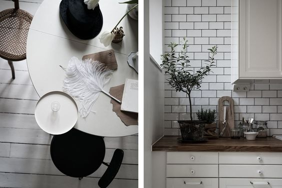 perfectly styled monochrome home, via http://www.scandinavianlovesong.com/