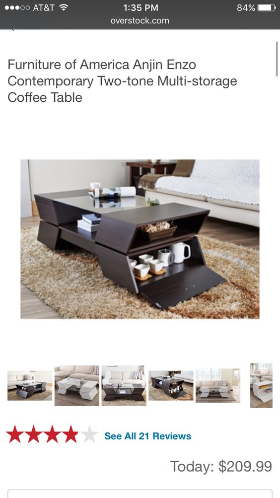 Interesting coffee table I saw on overstock