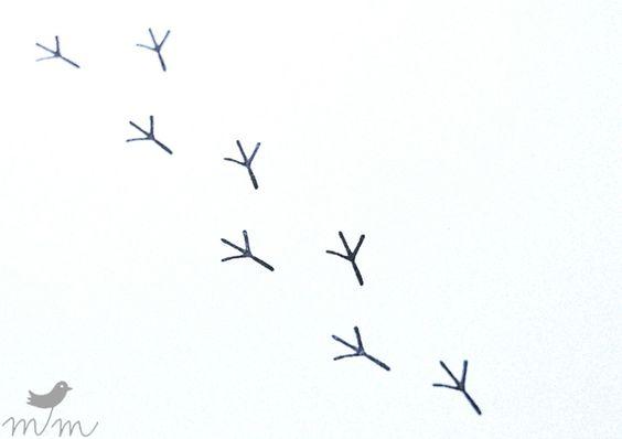 """Mini Stempel """"Vogelspur"""" von marga.marina von marga.marina auf DaWanda.com"""