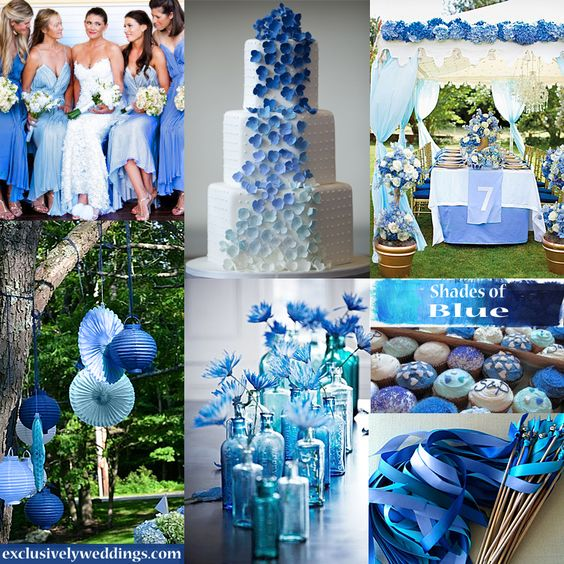 Something blue - should be a colour on trend every year (Shades of Blue Wedding Colors | #exclusivelyweddings | #weddingcolors)