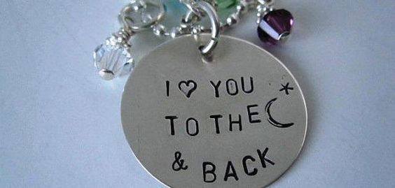 Sterling Silver Circle Charm I Love You To The by TheSterlingCharm, $22.00