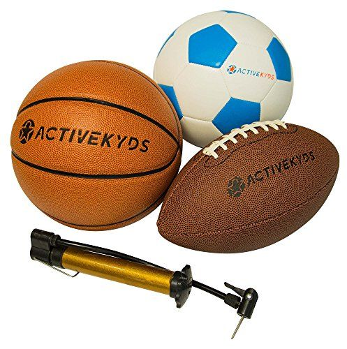 Discounted Active Kyds Sports Ball Set Football Soccer Ball And Basketball With Hand Pump 43209 33372 43209 33372 73 Sports Balls Soccer Ball Basketball