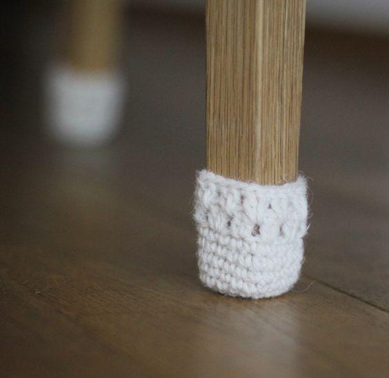 Handmade wool 8 Chair legwarmers, chair socks, Floor Protector, Chair Leg, Cozy, home decor, Eco-friendly gift by HandfulCrafts on Etsy