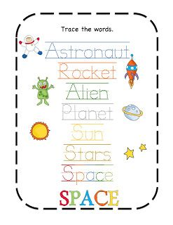 Space rocket, Spaces and Preschool printables on Pinterest