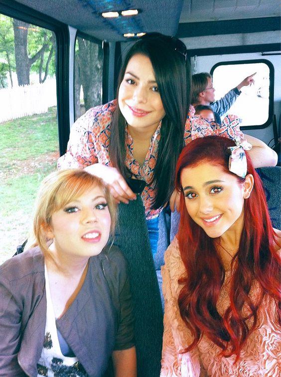 Ariana Grande, Jennette McCurdy and Miranda Cosgrove