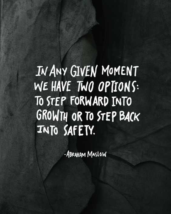 I'm about to step back into safety because I'm not growing. Let's be honest: