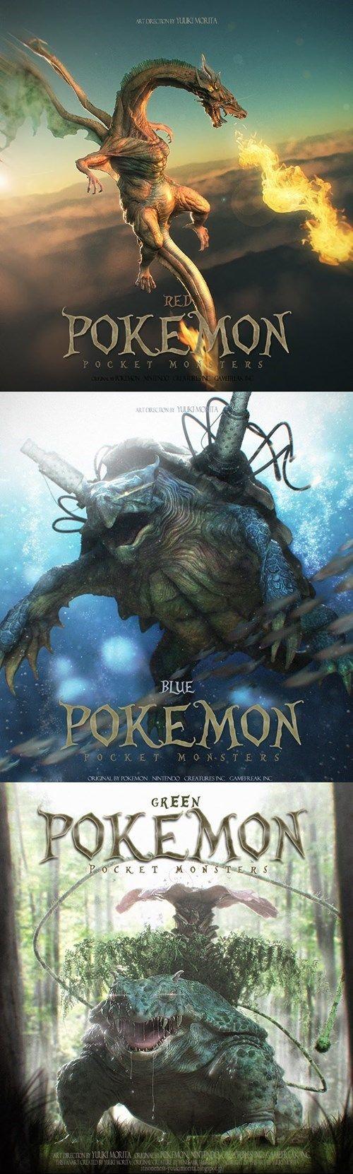 Hyperrealistic 3D Illustrations of Pokémon Characters