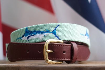Old South Clothiers, Marlin needlepoint belt