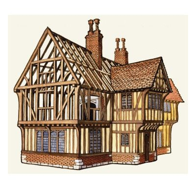 "#Tudor #Architecture #history - there is a tendency to call any building with exposed timber frame structure as TUDOR - however this term applies to the period 1485-1603 ending with the death of Elizabeth I and anything beyond that is ""Tudor style"""