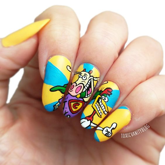 Cow and chicken Nails