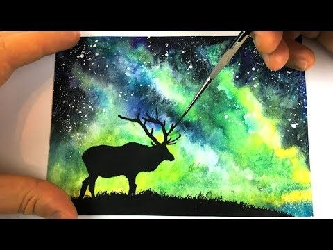 Watercolor And Acrylic Painting Easy Tutorial Landscape How To