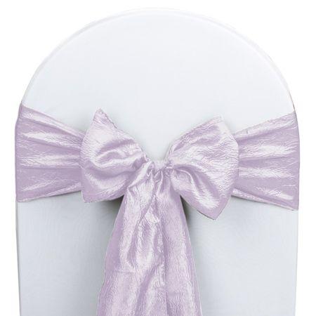 Lavender+Taffeta+Wedding+Chair+Sash+5/pk