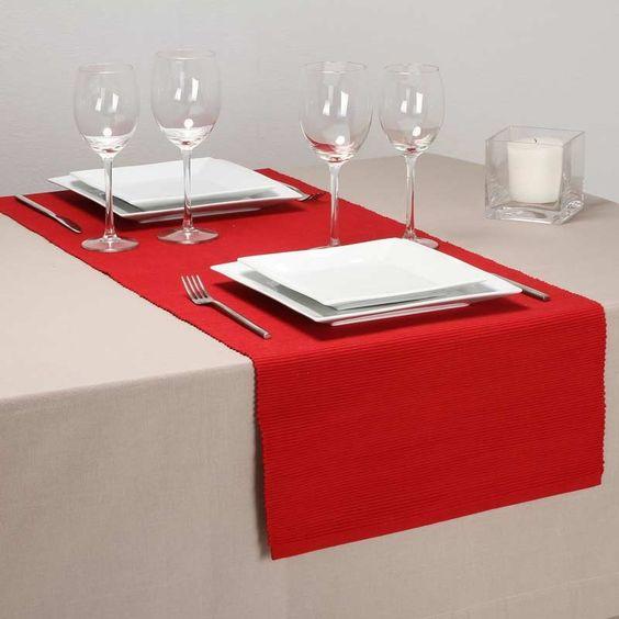 disponible sur maisondulingefr chemin de table rouge 40x150cm - Chemin De Table Color