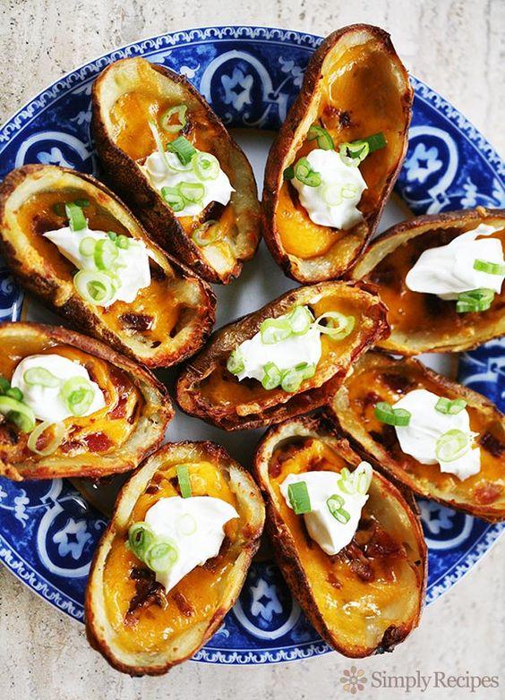 Potato Skins | Recipe | Potato Skins, Potatoes and Sour Cream