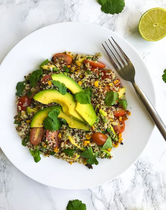 Mexican Toasted Corn Quinoa Salad