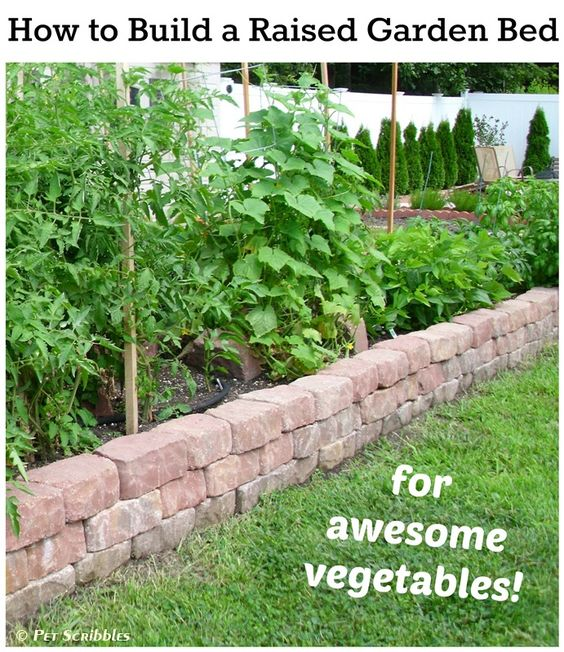 How To Build A Raised Garden Bed For Vegetables Diy Home Decor Ideas Pinterest Gardens