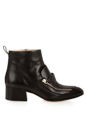 Point-toe leather boots    Chloé   MATCHESFASHION.COM US