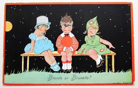 A S Chicky Sparks Blond OR Brunette Full Moon Children Postcard | eBay: