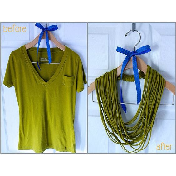 http://aprettypennyblog.com/2011/01/02/project-restyle-easy-no-sew-t-shirt-necklace/