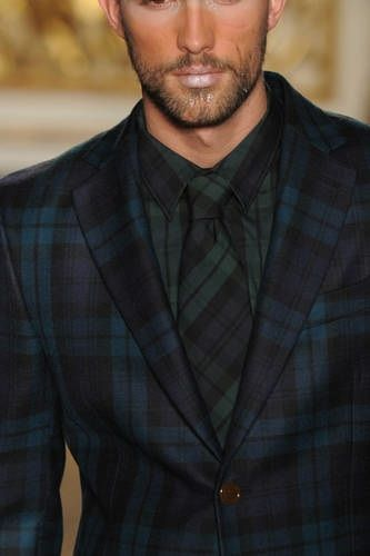 Blue and green plaid men's suit | Emeralds and Greens | Pinterest