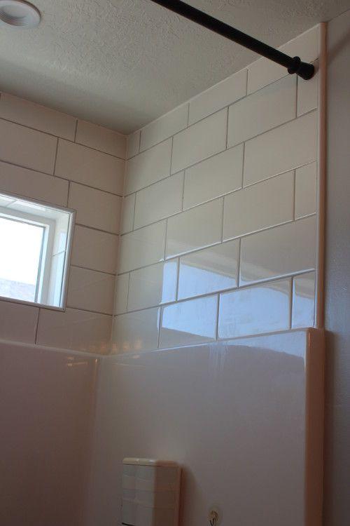 Subway Tile Above Shower Surround