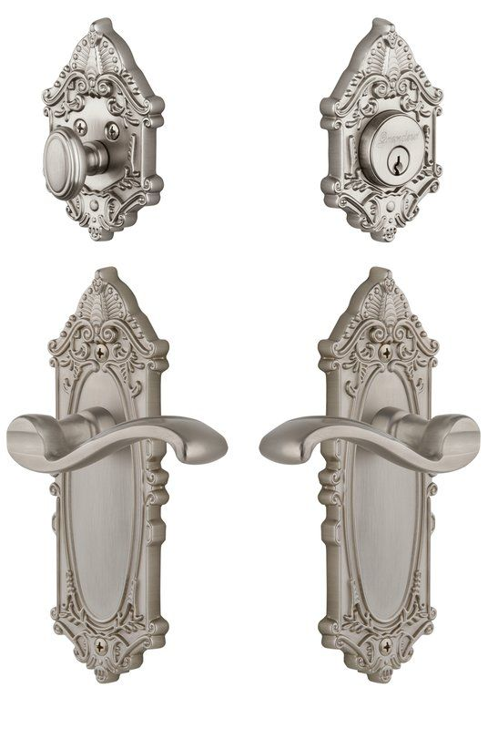 Complete Grande Victorian Entry Lever Set With Single Cylinder Deadbolt In 2020 Victorian House Interiors Victorian House Colors Victorian