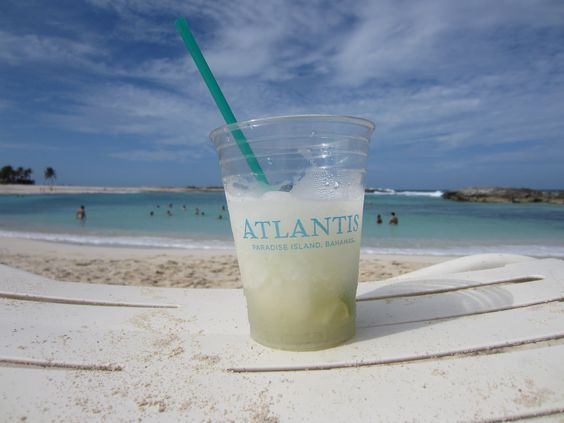 Nice cold margarita at the Atlantis resort in the Bahamas. See more of our travels at www.sistersinthesand.com!