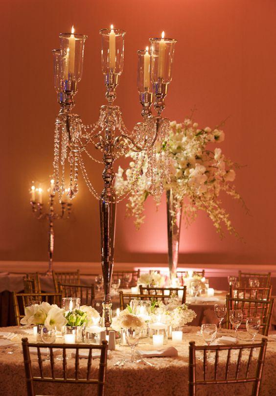 Candelabra centerpiece receptions vase and wedding