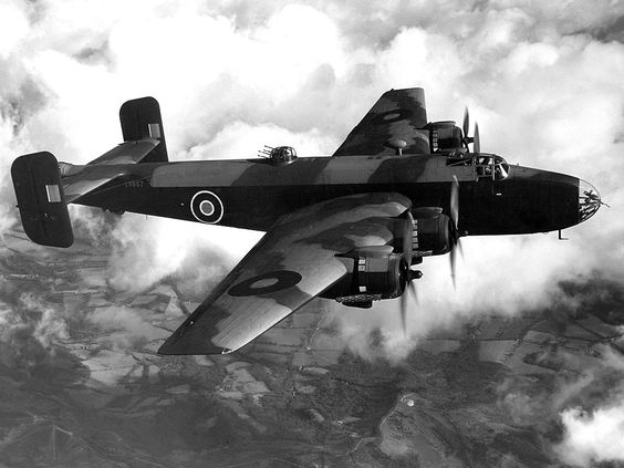 Handley Page Halifax Bomber. The plane my father-in-law Ken Rimmer flew in thirty missions over the Third Reich in 1944/1945.