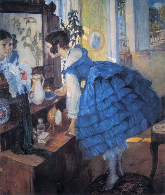 "Olga Della Vos Kardovskaya ~ (Russian: 1875-1952) ~ ""A Little Woman, 1910"""