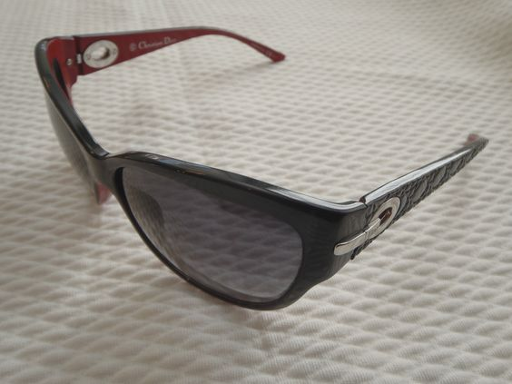 Christian Dior Sunglasses My Lady Dior 5 Black/Red Frames Gradient Lens Cat Eye | eBay