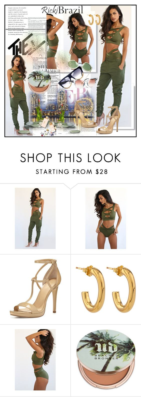 """""""Ricki Brazil"""" by lip-balm ❤ liked on Polyvore featuring MICHAEL Michael Kors, Jennifer Fisher, Urban Decay, Benefit and rickibrazil"""