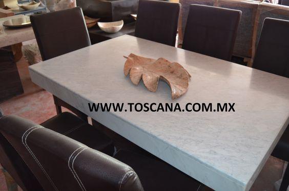 Mesa de marmol www.toscana.com.mx