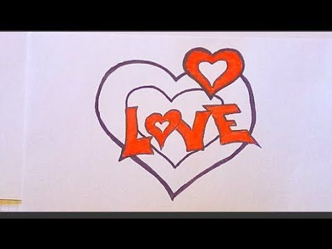 How To Draw A Heart Step By Step Heart Drawing Drawings Draw