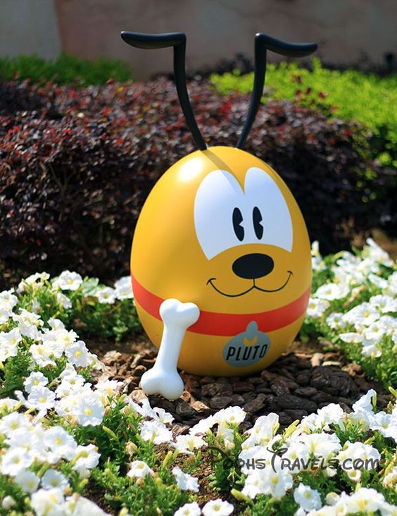 Cute Pluto Easter Eggs Disney Easter Egg Decorating Ideas