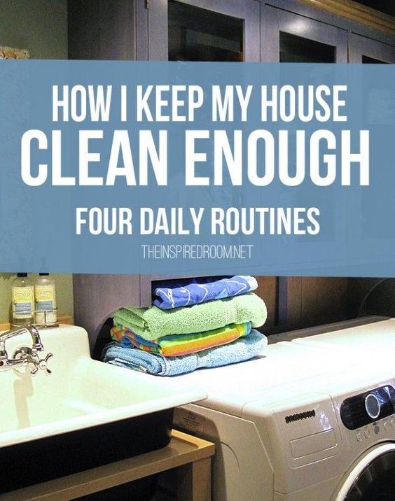 how to keep your house clean with four easy daily routines organize pinterest house. Black Bedroom Furniture Sets. Home Design Ideas