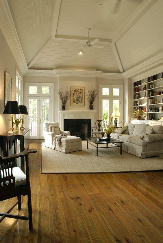 Elegante combinaci n de colores para destacar el suelo de - Combinacion de colores para salones ...