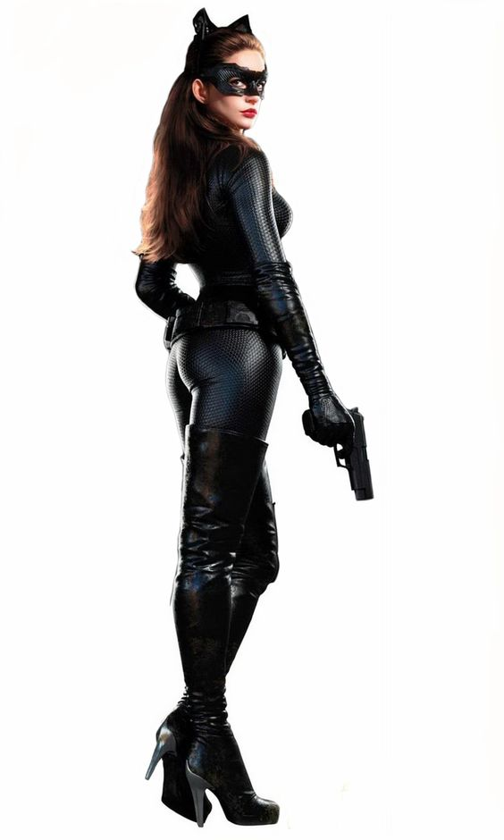 Anne Hathaway as a sexy catwoman in the final Dark Knight