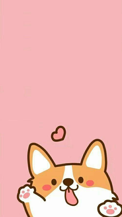 Cartoon Cute Animal Iphone Wallpaper Ipcwallpapers Corgi Wallpaper Iphone Dog Wallpaper Iphone Corgi Wallpaper
