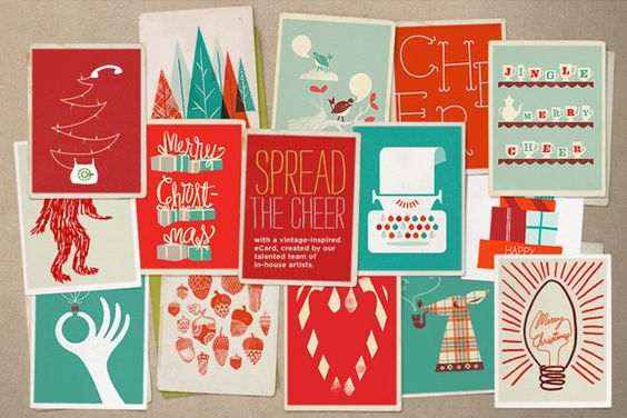 Fossil Holiday cards (via Creature Comforts)