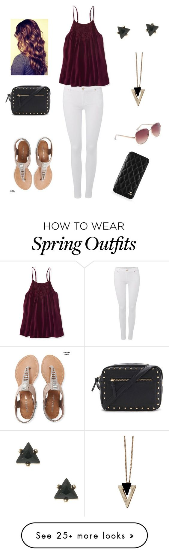 """""""mall outfit"""" by marilyng341 on Polyvore featuring 7 For All Mankind, Aéropostale, Forever 21, Chicnova Fashion and Chanel"""