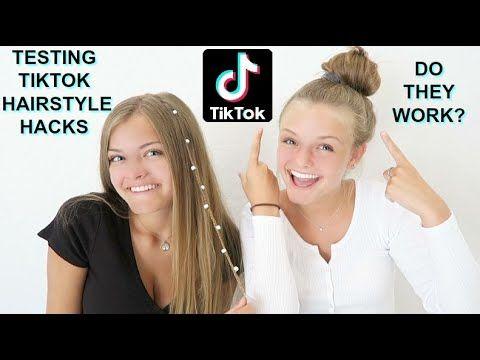 Trying Viral Tiktok Hairstyle Hacks Jacy And Kacy Youtube Hair Hacks Hairstyle Hair Styles