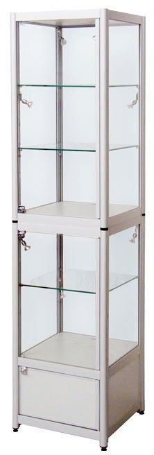 Folding Display Cabinet With Storage
