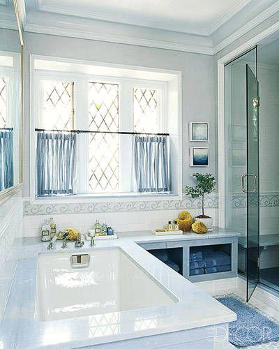 A tudor reborn tudor gambrel and elle decor for Elle decor bathrooms