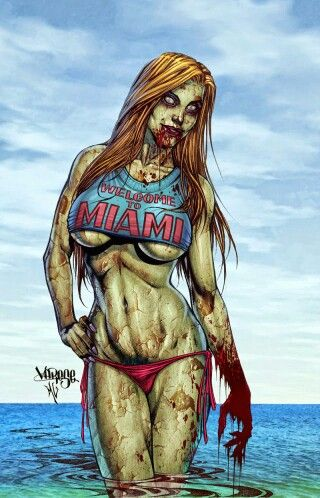 o zombies swim? Can they swim? Hmmm...they're already dead, so they probably can't drown. #zombies #undead