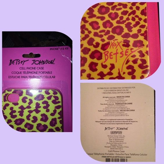 ✨✨Betsey Johnson Phone Case IPHONE 4/4SI New Betsey Johnson Accessories Phone Cases