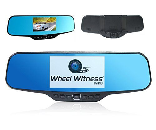 """WheelWitness CM PRO - Premium HD Dash Camera with Rear View Mirror - Hidden and Discreet - Super HD 2K 1296P - 4.3"""" LCD - Mounts Easily on Your Mirror - - http://camera-photos.wegetmore.com/wheelwitness-cm-pro-premium-hd-dash-camera-with-rear-view-mirror-hidden-and-discreet-super-hd-2k-1296p-4-3-lcd-mounts-easily-on-your-mirror/"""