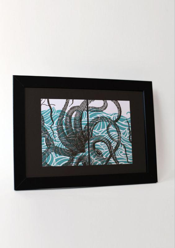 Bon Matin Postkarte – Oktopus No. 1 –