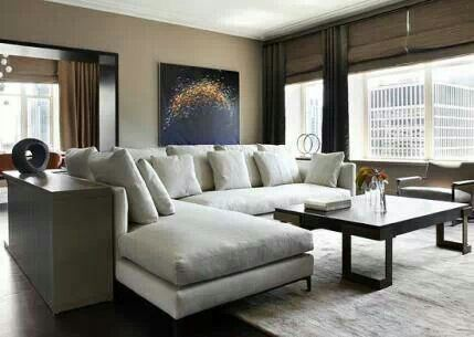 Sofa placement and colors in room . Love it!